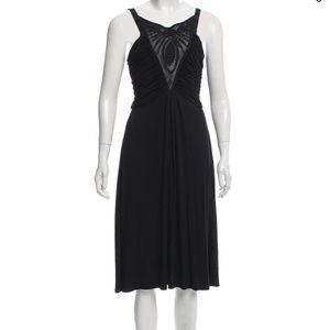 Catherine Malandrino Black Ruched Bodice Dress